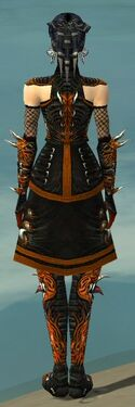 Necromancer Canthan Armor F dyed back