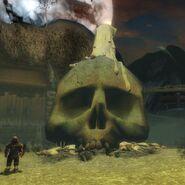 Halloween Droknar Skull