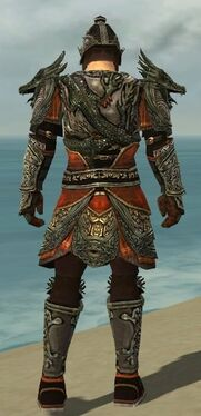 Warrior Elite Canthan Armor M gray back
