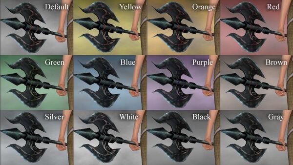 Gothic Dual Axe Dye Chart