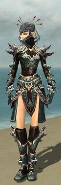Necromancer Asuran Armor F gray front