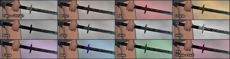 Shinobi Blade dye chart