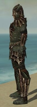 Warrior Elite Dragon Armor M gray side