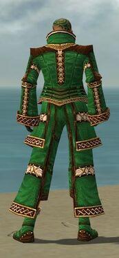 Monk Elite Kurzick Armor M dyed back