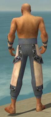 Monk Obsidian Armor M gray arms legs back