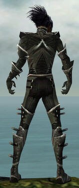 Necromancer Kurzick Armor M gray back