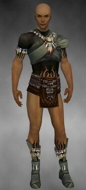 Ritualist Luxon Armor M gray chest feet front