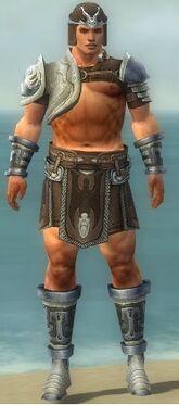 Warrior Gladiator Armor M gray front