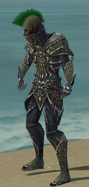 Necromancer Elite Necrotic Armor M gray side