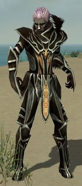 Necromancer Elite Sunspear Armor M gray front
