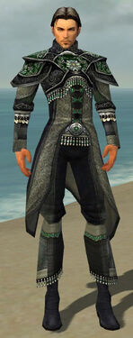 Elementalist Elite Luxon Armor M gray front