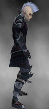 Necromancer Deldrimor Armor M gray side