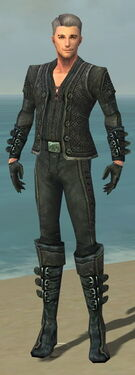 Mesmer Elite Rogue Armor M gray front