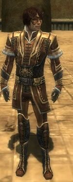 Mesmer Elite Sunspear Armor M dyed front