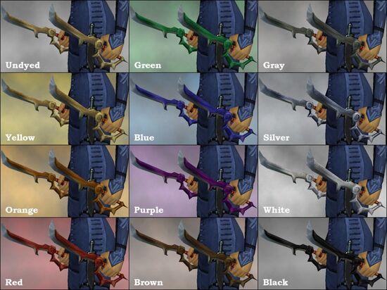 Salient Daggers dye chart