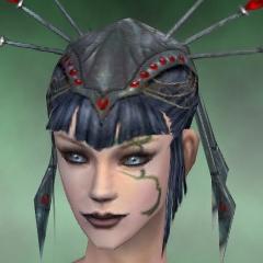 File:Necromancer Vabbian Armor Female Headgear green front.jpg