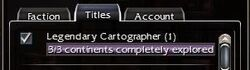 Legendary Cartographer Maxed