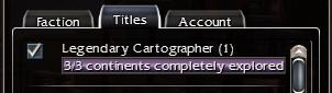 Legendary Cartographer Maxed