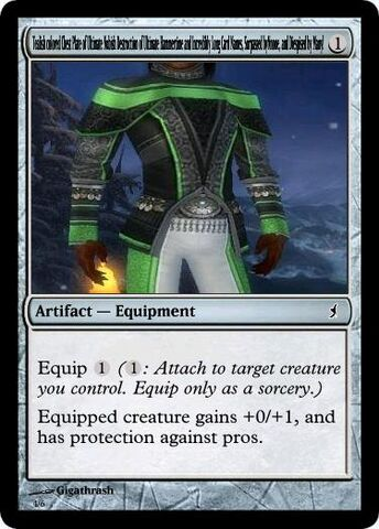 File:Giga's Tealish colored Chest Plate of Ultimate Nubish Destruction of Ultimate Hammertime and Incredibly Long Card Names Surpassed by None and Dispised by Many Magic Card.jpg
