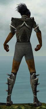 Necromancer Kurzick Armor M gray chest feet back