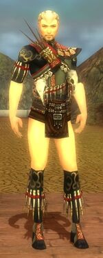 Ritualist Elite Canthan Armor M gray chest feet front