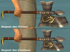 Serpent Axes comparison