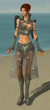 Elementalist Elite Stormforged Armor F gray front