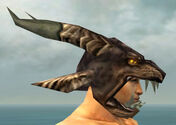 Warrior Charr Hide Armor M gray head side