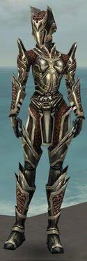 Warrior Elite Kurzick Armor F gray front