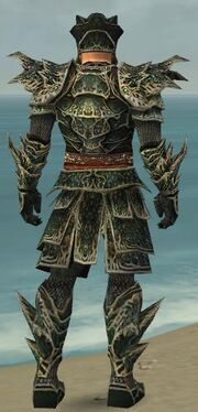 Warrior Elite Luxon Armor M gray back