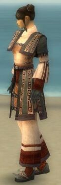 Monk Ancient Armor F gray side