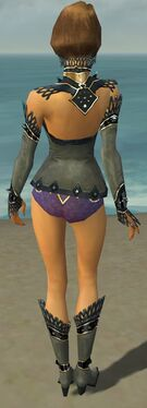 Mesmer Obsidian Armor F gray chest feet back