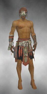 Ritualist Asuran Armor M gray arms legs front