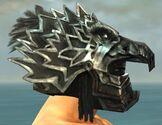 Warrior Silver Eagle Armor M gray head side