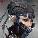 Necromancer Asuran Armor F gray earrings
