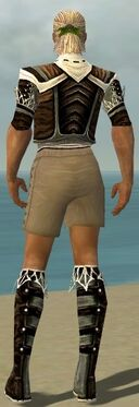 Ranger Kurzick Armor M gray chest feet back