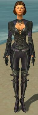 Mesmer Elite Rogue Armor F gray front