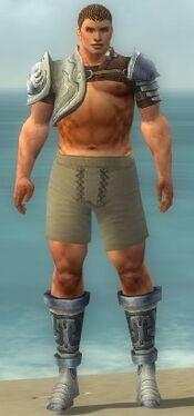 Warrior Gladiator Armor M gray chest feet front