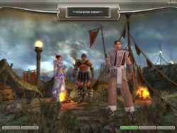 Prophecies character selection screen