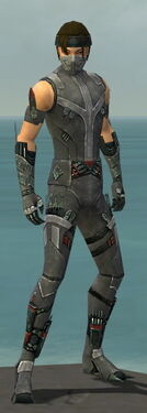 Assassin Canthan Armor M gray front
