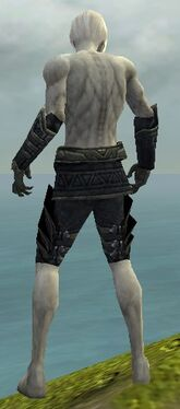 Necromancer Elite Cultist Armor M gray arms legs back