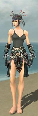 Necromancer Asuran Armor F gray arms legs front