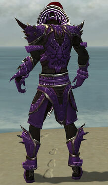 Necromancer Asuran Armor M dyed back