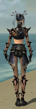 Necromancer Obsidian Armor F gray back