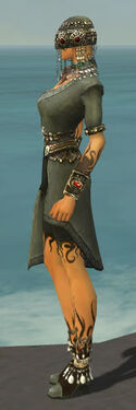 Ritualist Canthan Armor F gray side