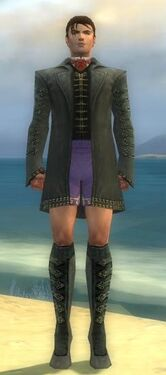 Mesmer Elite Enchanter Armor M gray chest feet front