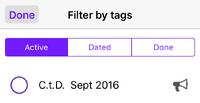 IOS To-do Filter