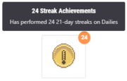 Streak achievement