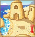Background sandcastle