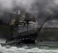 Photo Sailing Ship on Foggy River.png
